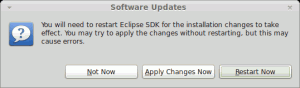 Eclipse ADT Software Update Neustarten